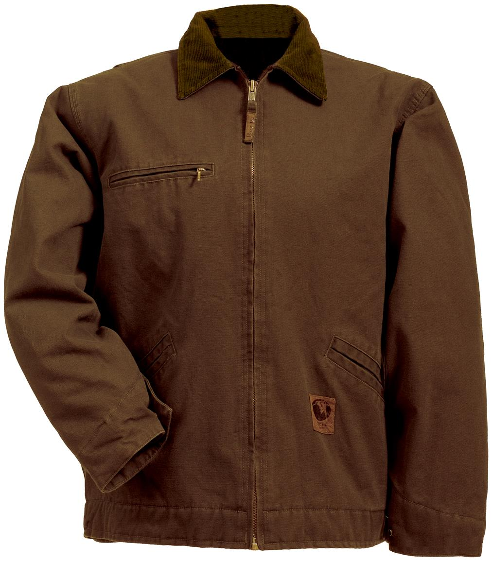 Berne Apparel® Fleece Lined Washed Gasoline Jacket, Dark Brown