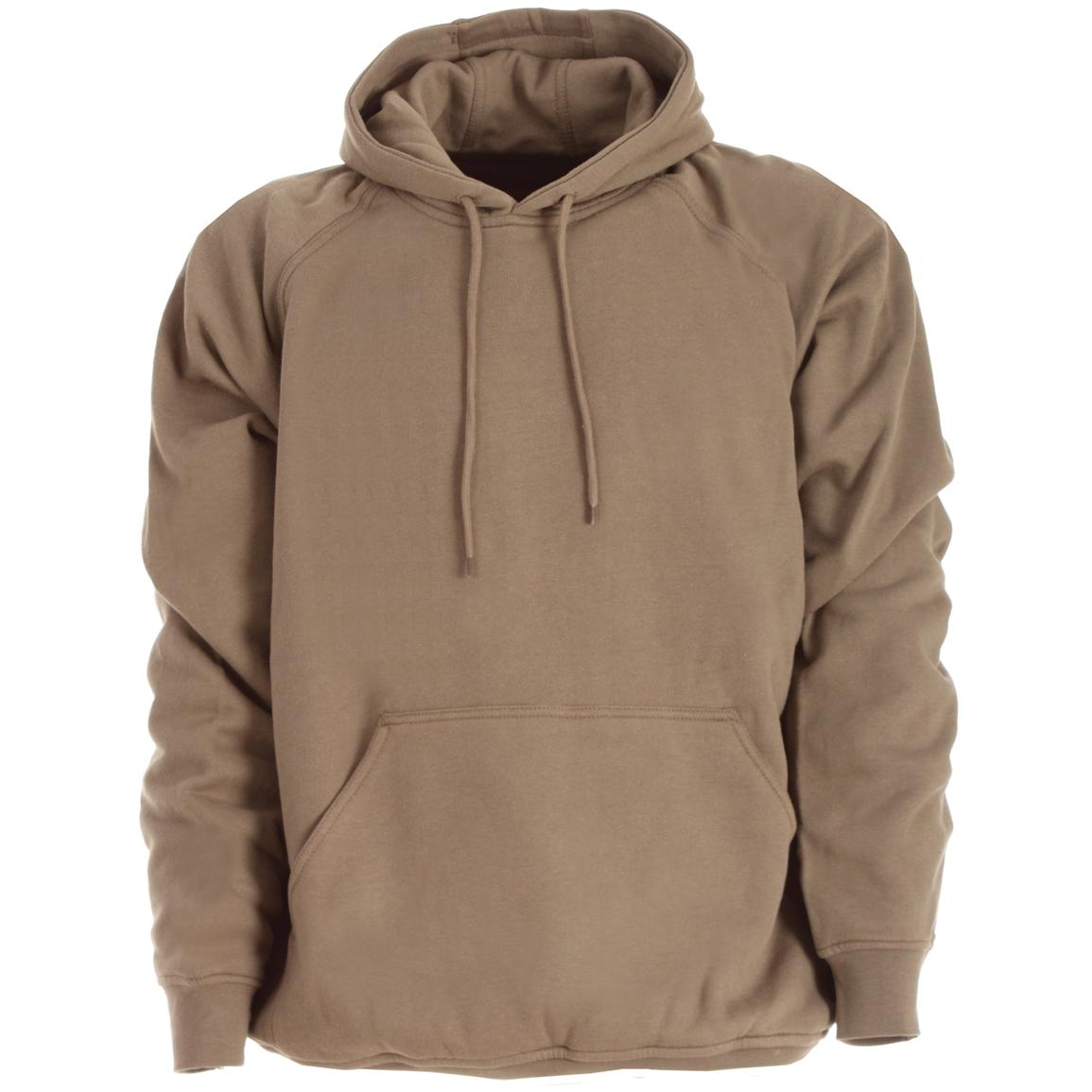 Berne Apparel® Thermal Lined Fleece Hooded Pullover - 183038 ...