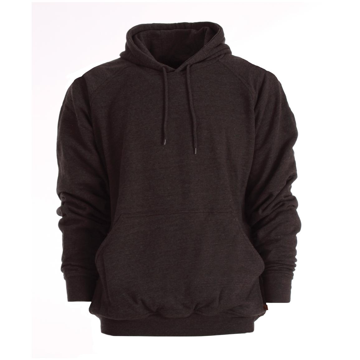 Berne Apparel® Thermal Lined Fleece Hooded Pullover, Charcoal