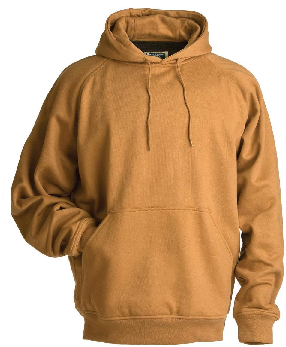 Berne Apparel® Thermal Lined Fleece Hooded Pullover, Caramel
