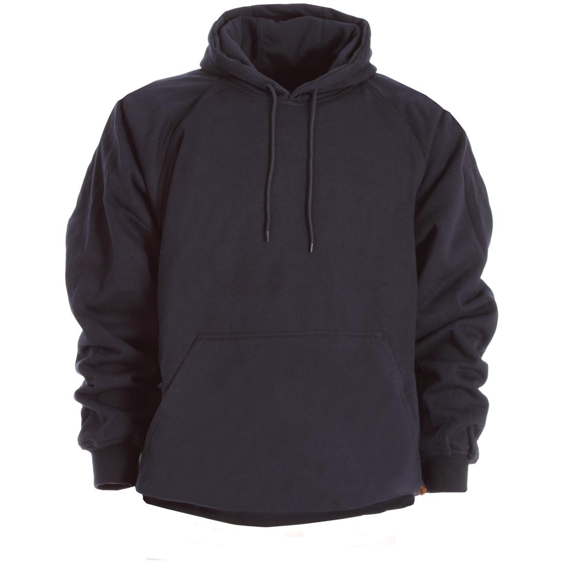 Berne Apparel® Thermal Lined Fleece Hooded Pullover, Navy