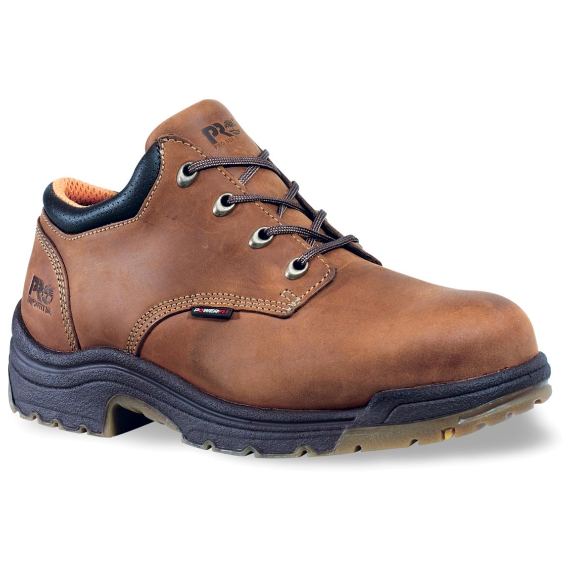 Men's Timberland® Pro® Titan® Safety Toe Oxford Shoes, Trail Brown