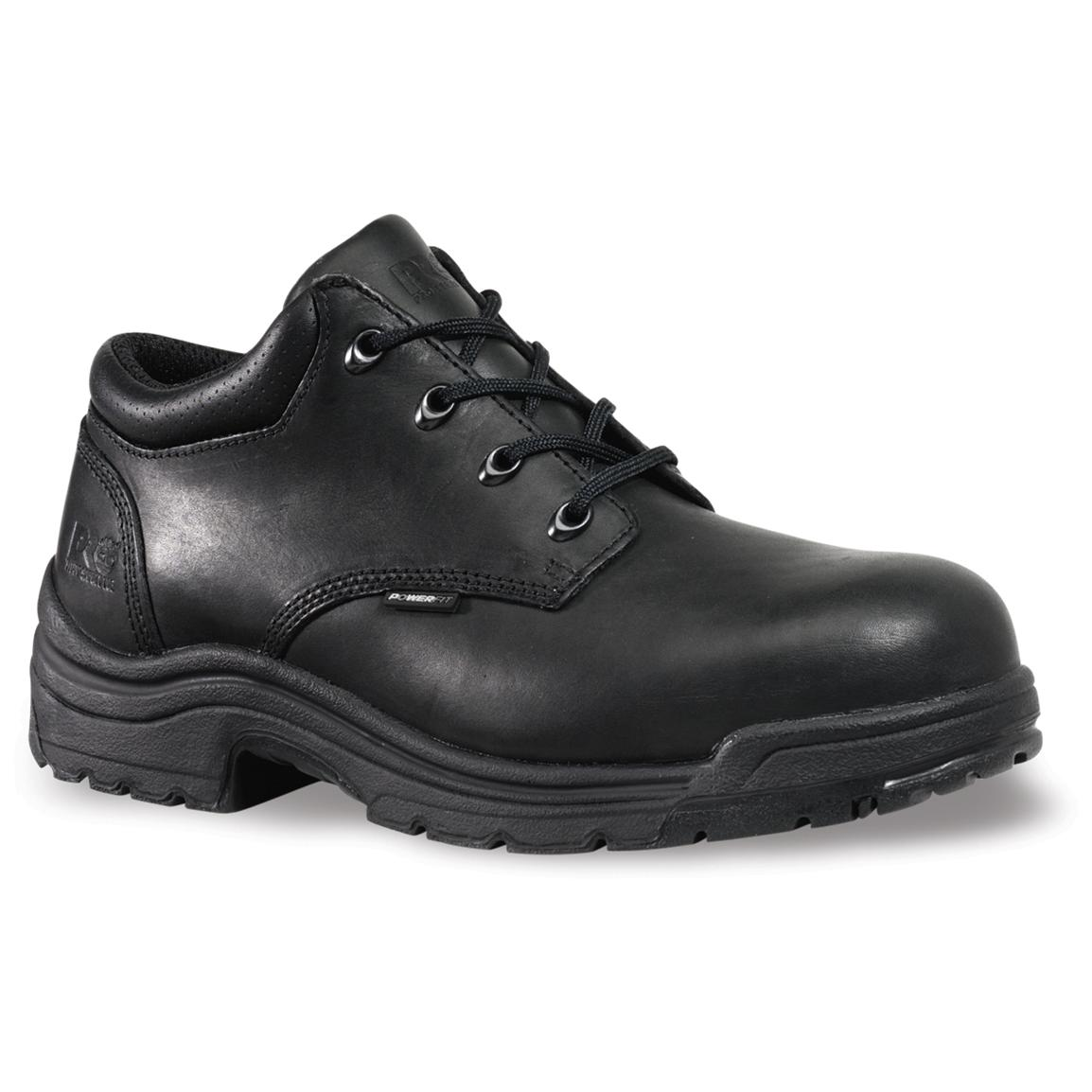 Men's Timberland® Pro® Titan® Safety Toe Oxford Shoes, Black