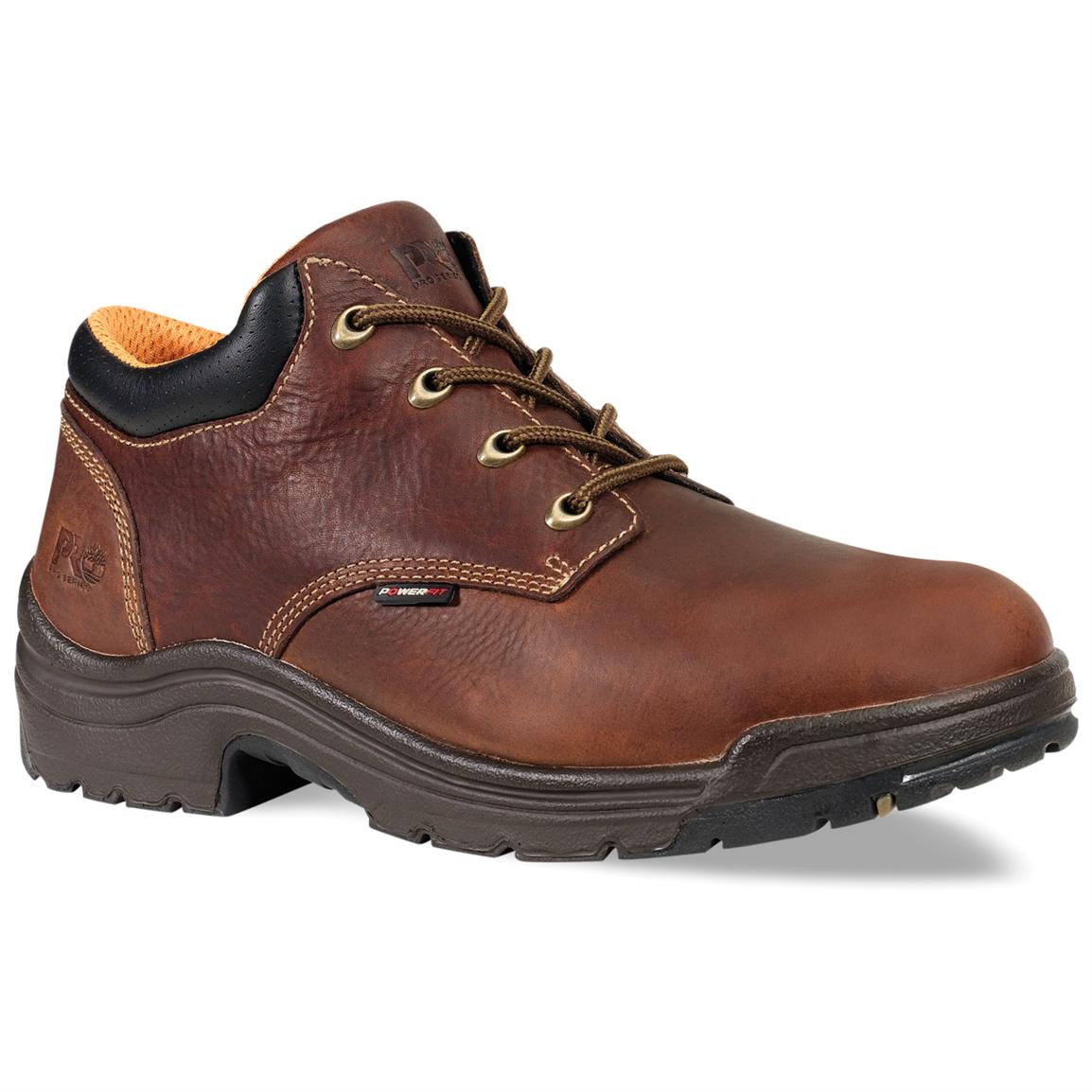 Men's Timberland® Pro® Titan® Soft Toe Oxford Shoes, Haystack Brown