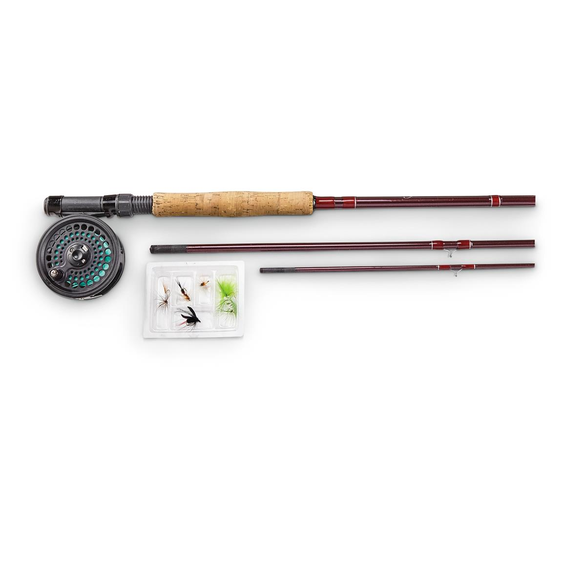 pflueger medalist fly fishing combo kit 183585 fly