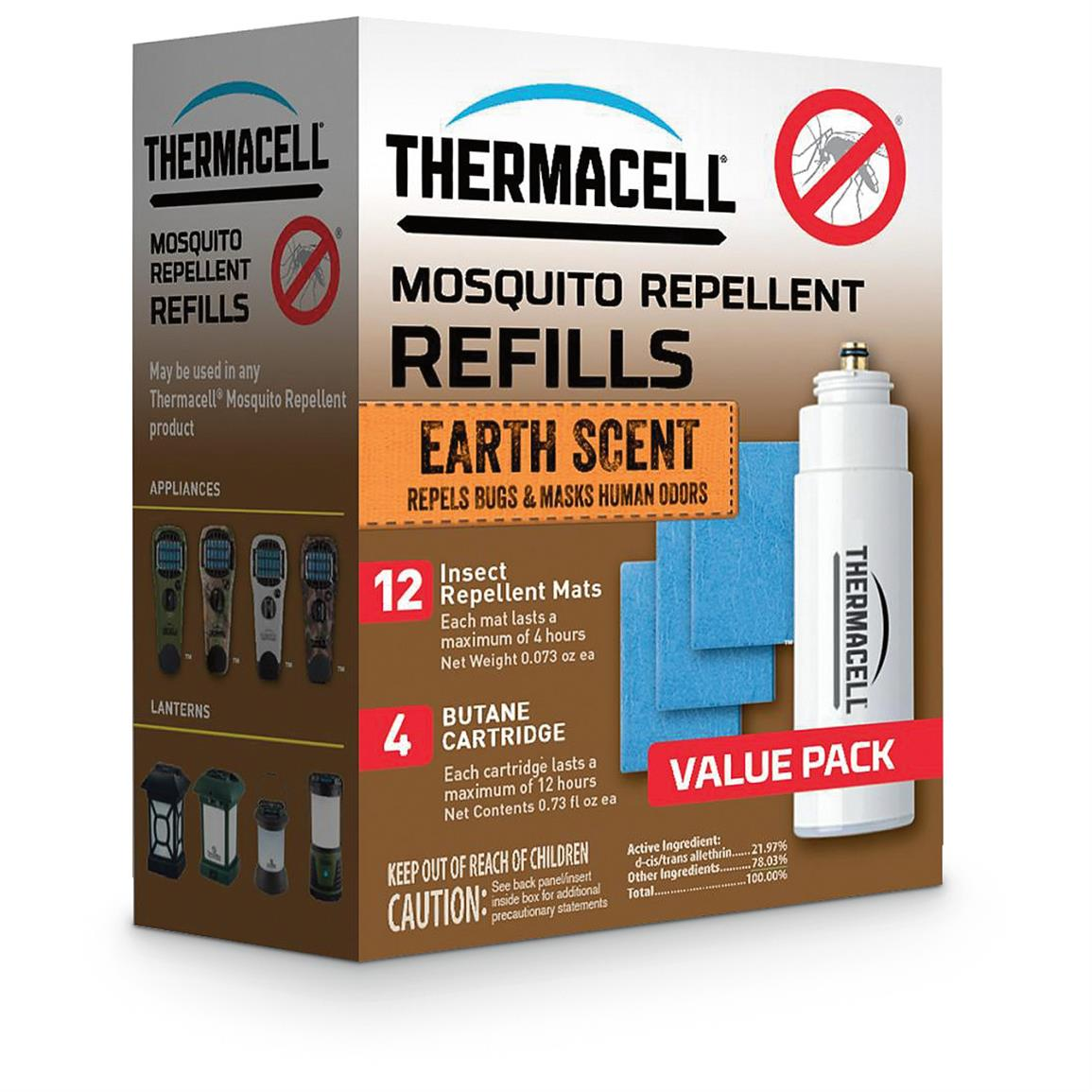Thermacell Mosquito Repellent Refill Value Pack, Earth Scent