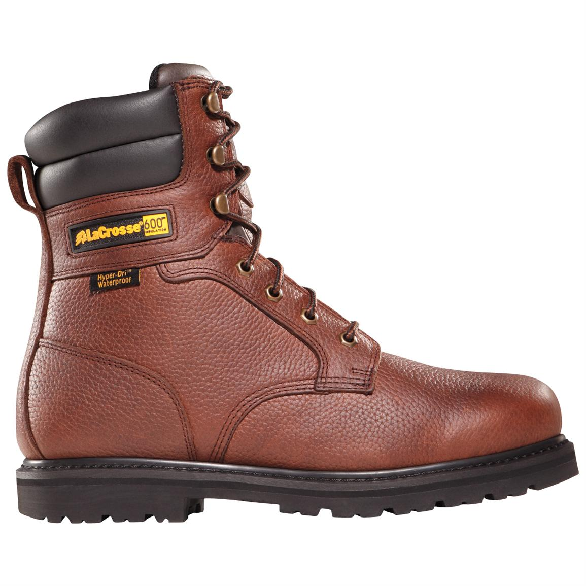 Men's LaCrosse® Foreman™ HD™ 8 inch 600-gram Thinsulate™ Ultra Insulation Boots