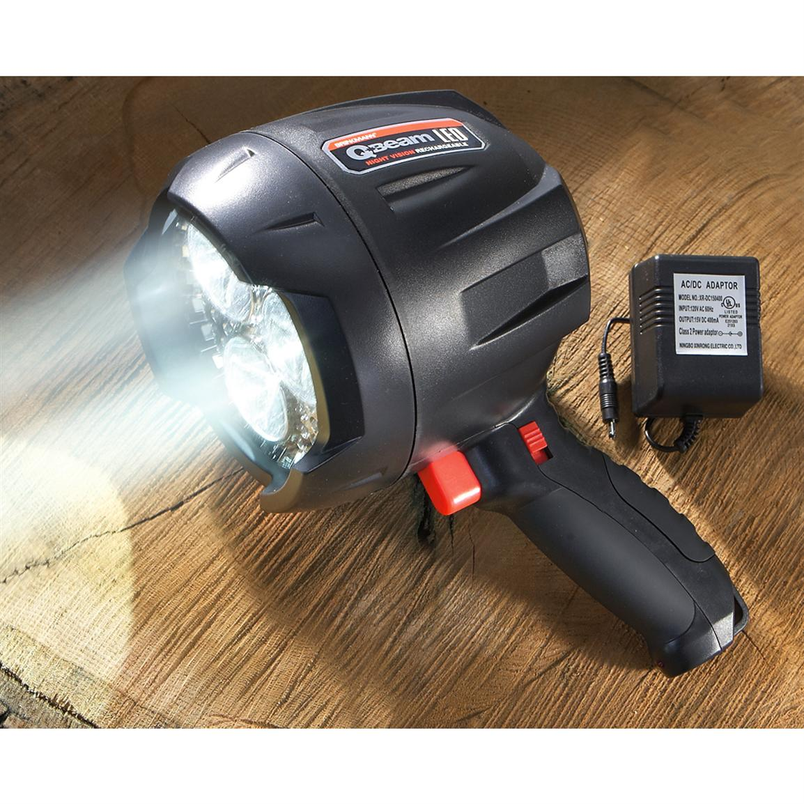 Brinkmann® Q-Beam LED Rechargeable Spotlight with Night ...