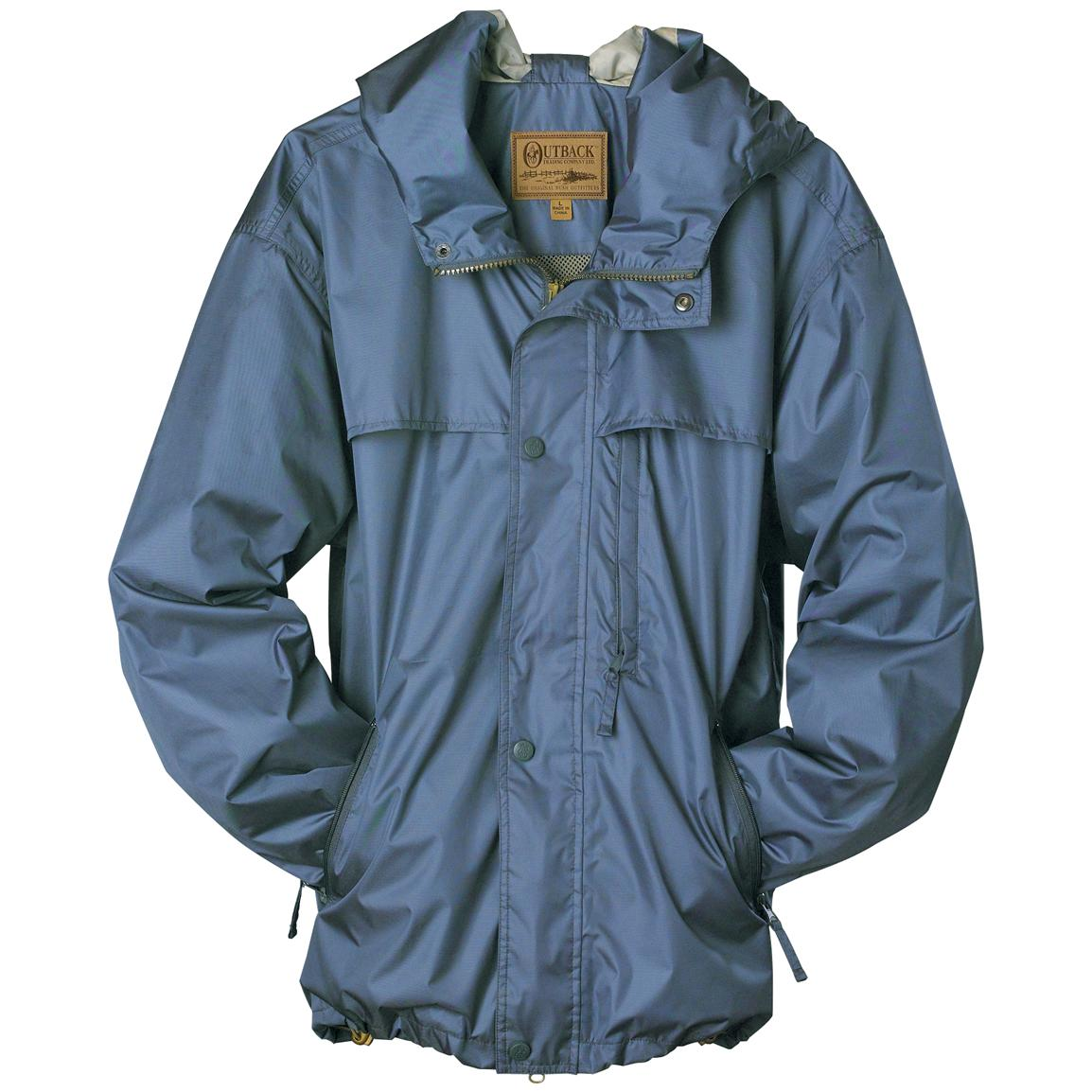 Men's Outback Trading Company® Short Packable Rain Jacket, Graphite