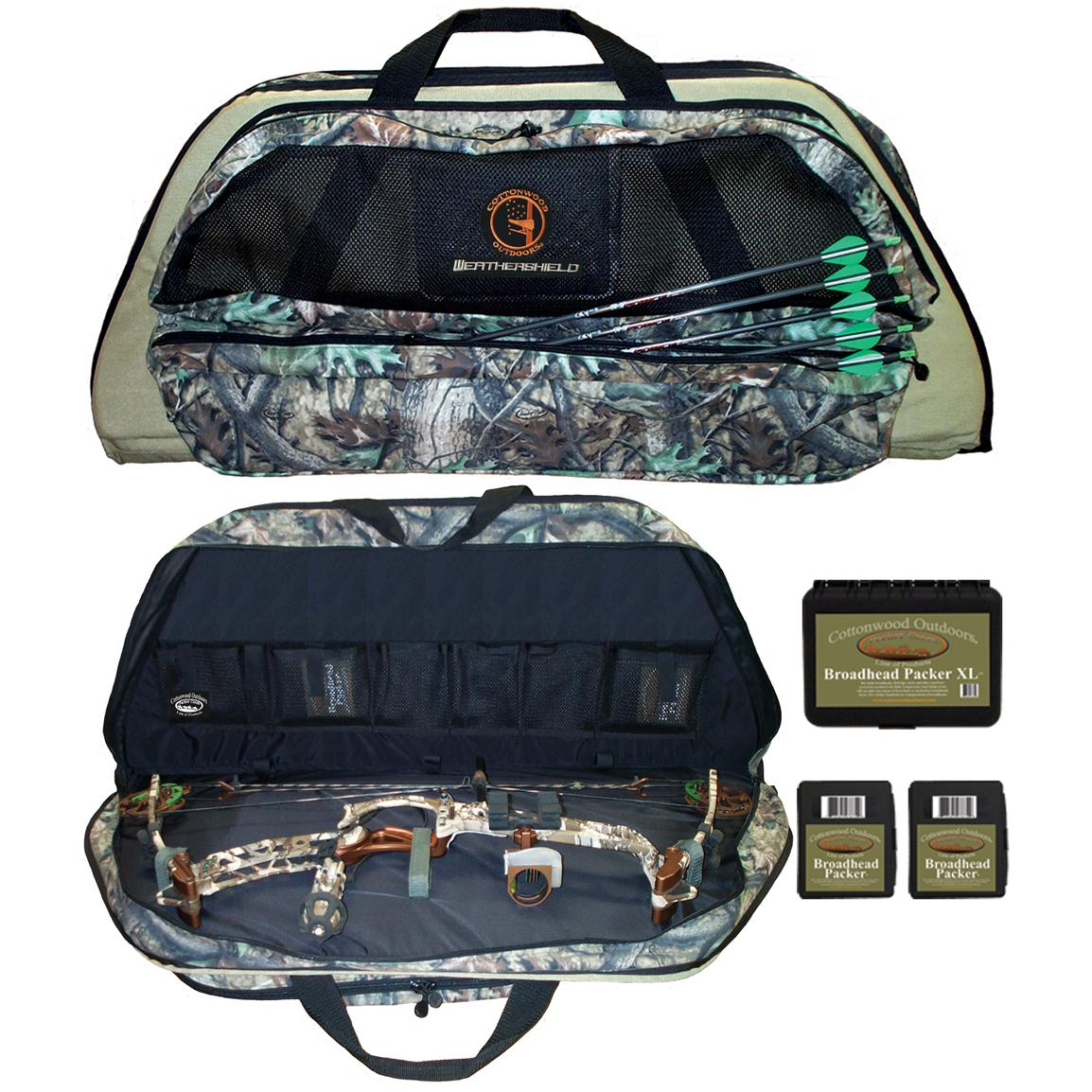 Cottonwood Outdoors Weathershield Bow Case with Broadhead Packer Boxes