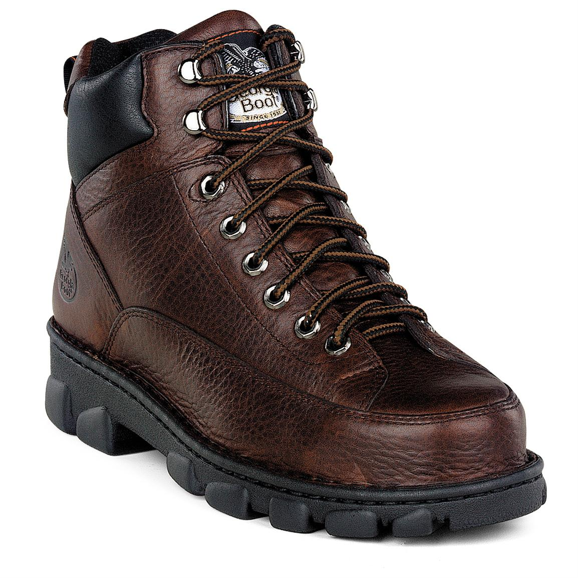 Men's Georgia® Eagle Light Wide Load Steel Toe Boots, Dark Brown