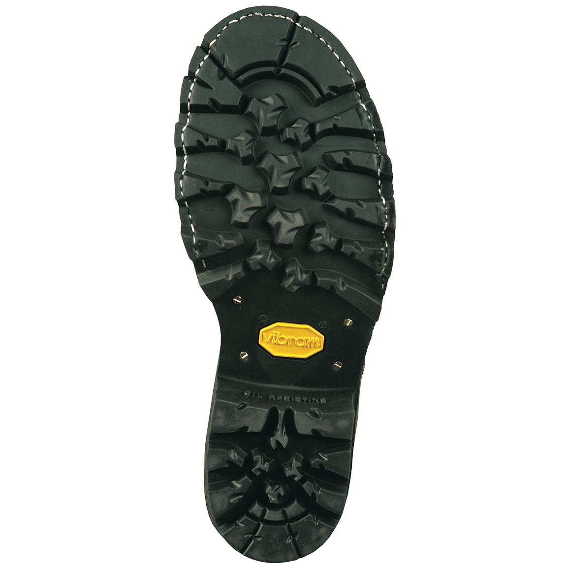 Vibram® rubber lug outsole for slip resistance