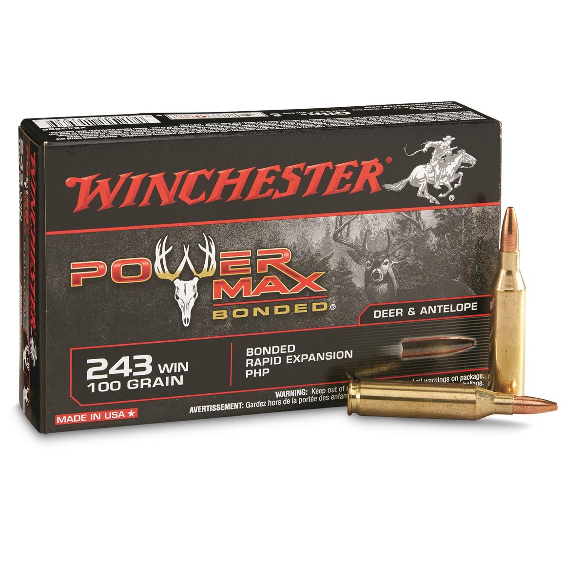 Winchester Super-X Rifle, .243, PMB, 100 Grain, 20 Rounds