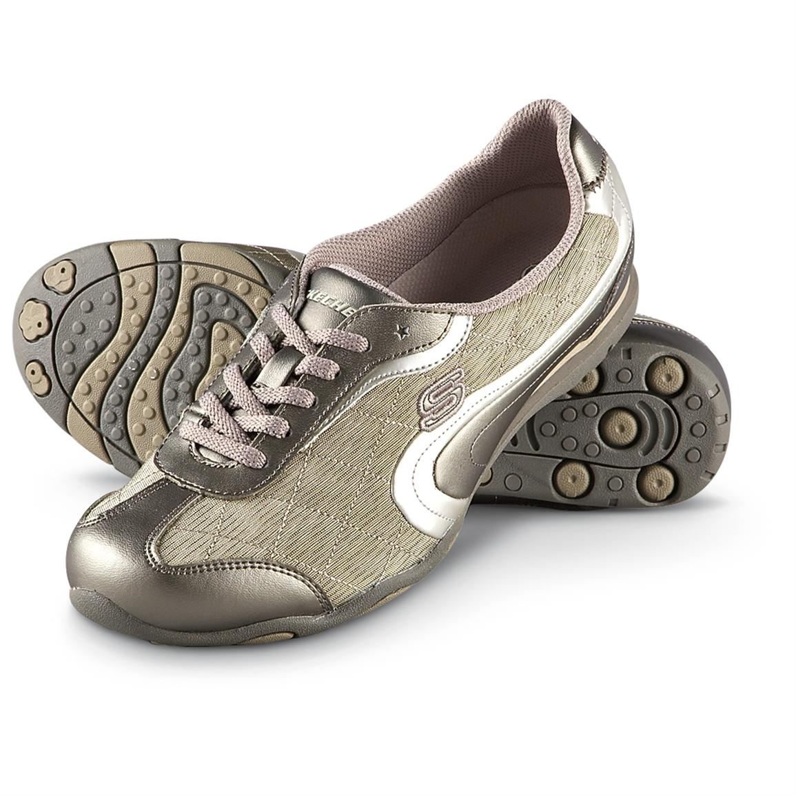 women's skechers® route 66 shoes, taupe - 186881, running shoes