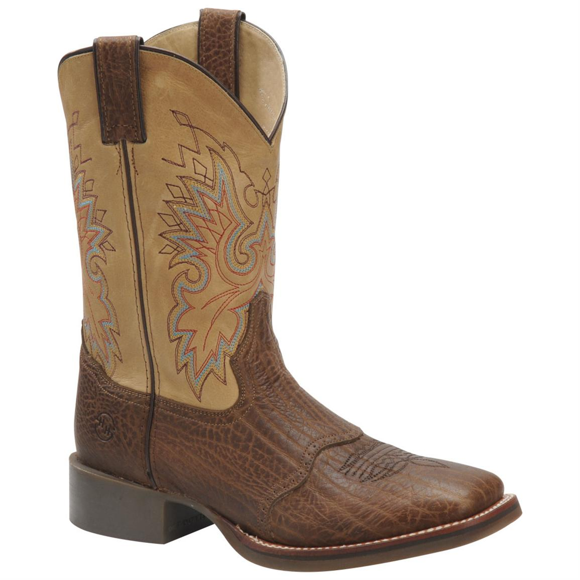 11 inch Men's Double H® Wide Square Toe Roper Cowboy Boots