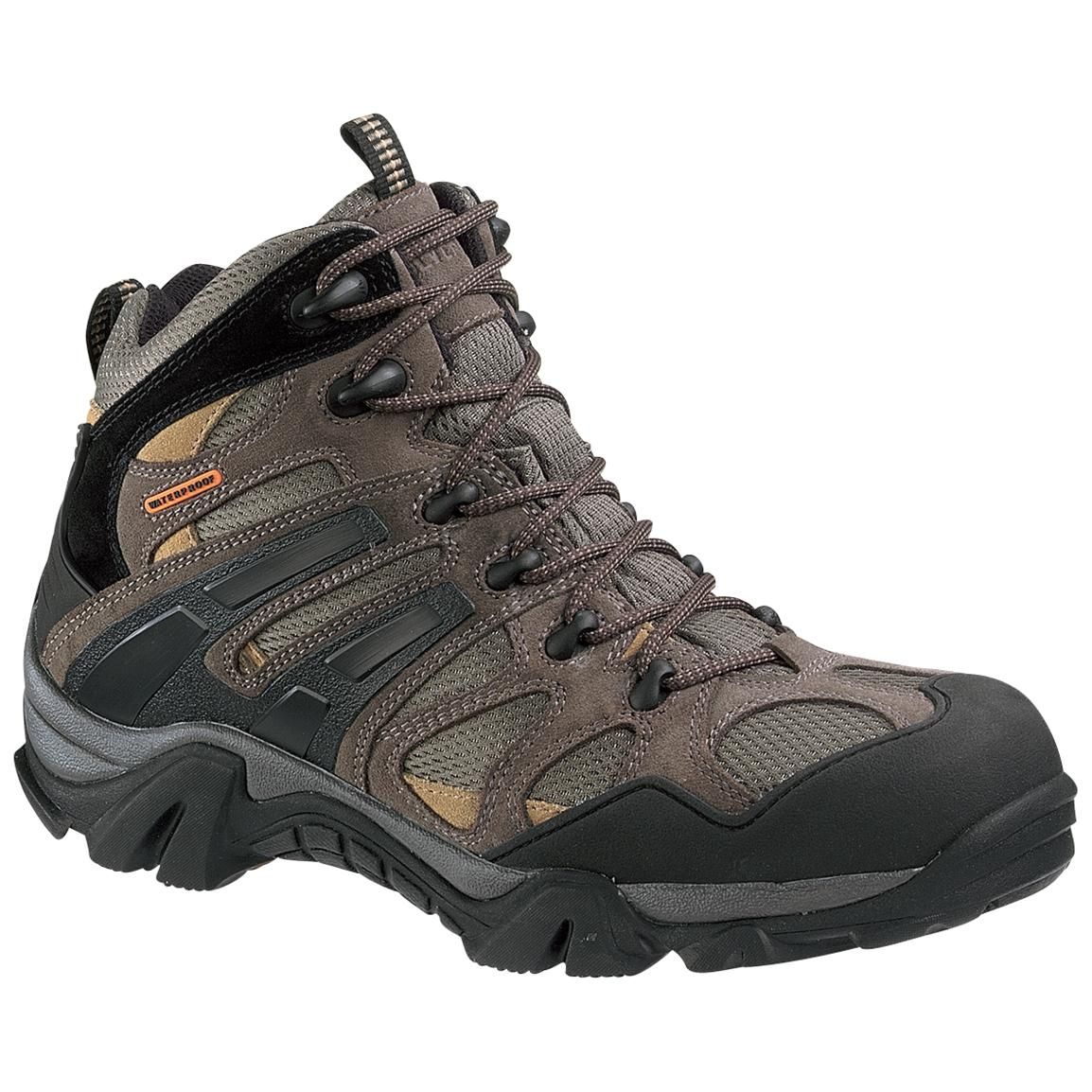 Men's Wolverine® Wilderness Hikers, Gunmetal / Tan