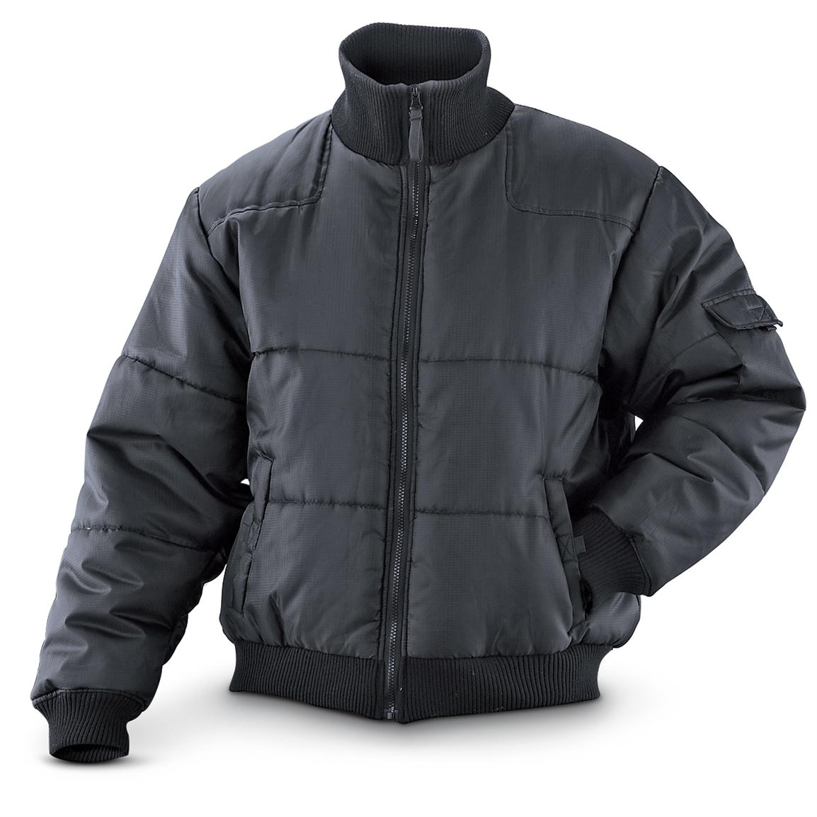 WestWind® Ripstop Bomber Jacket, Black; Ripstop fabric wears well and looks great!