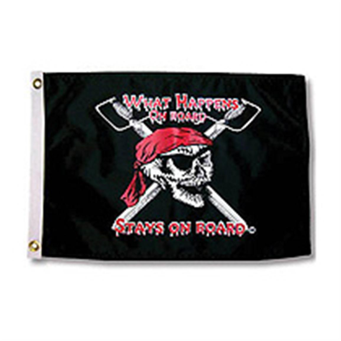 "Taylor Made® ""What Happens On Board Stays On Board"" Flag"