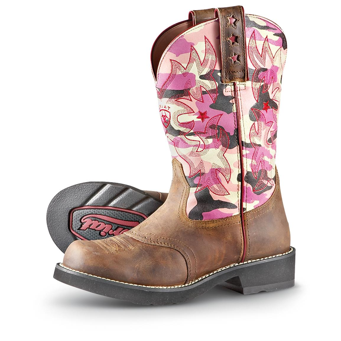 Women's Ariat® ProBaby Western Boots, Pink Camo - 188740, Cowboy ...