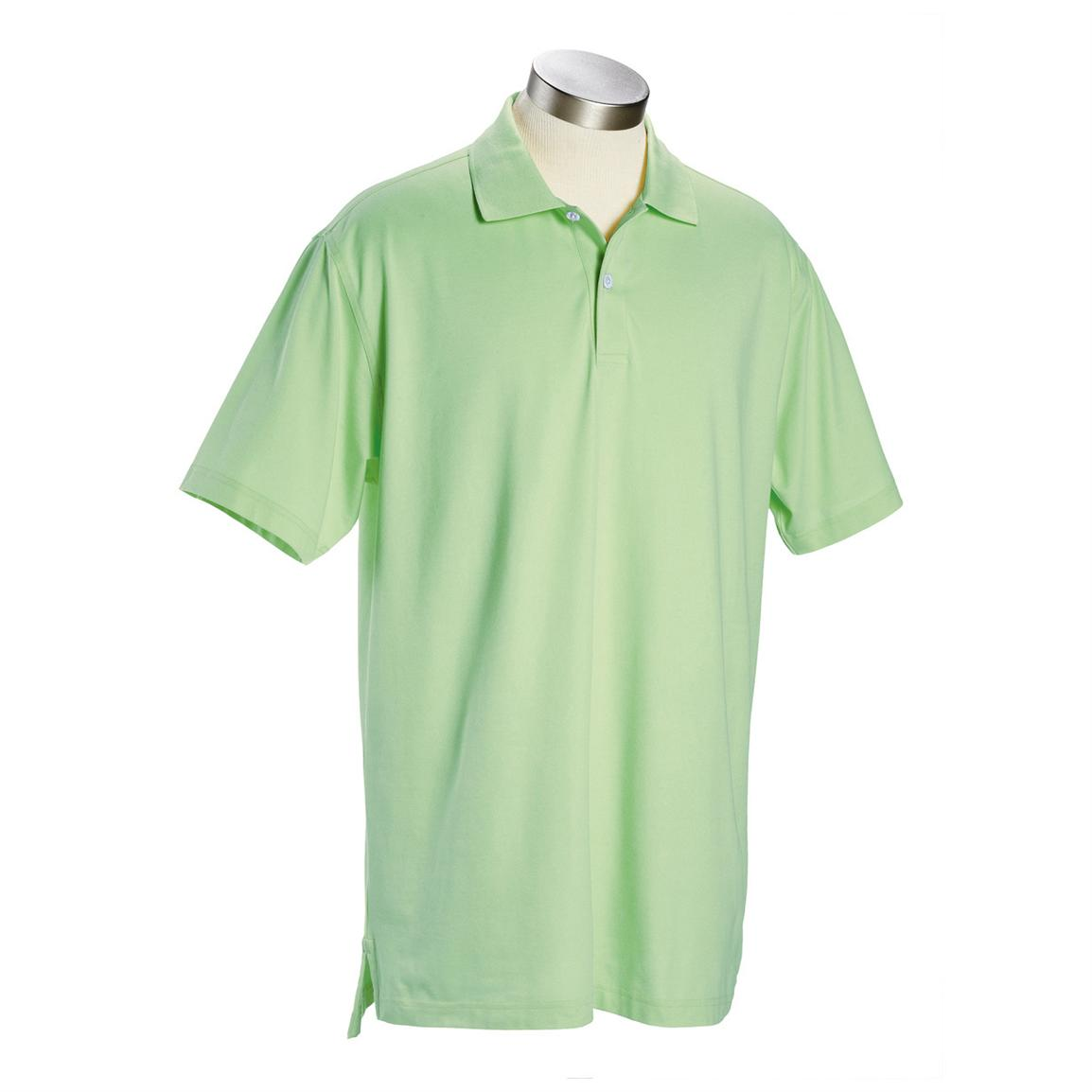 Men's Ashworth® Classic Solid Pique Polo, Bamboo