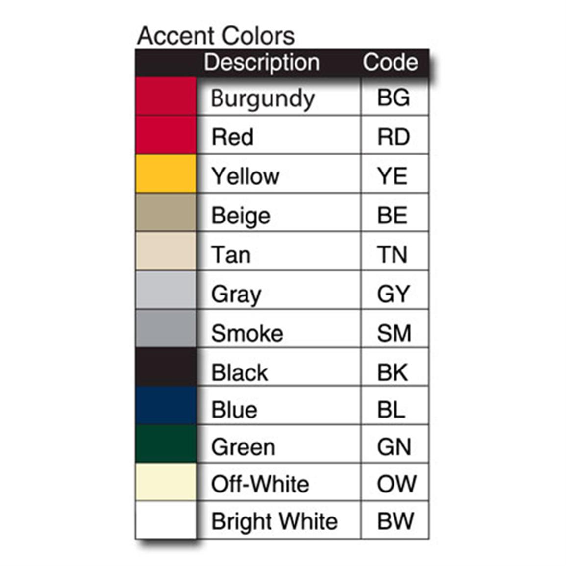 Select from a wide range of color choices to match your boat