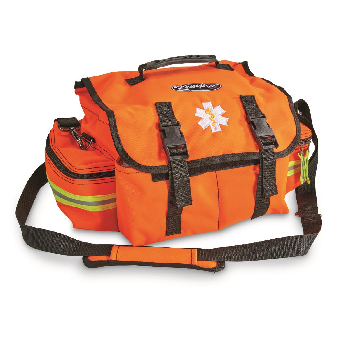 Features carrying handle or shoulder strap for versatile carry.