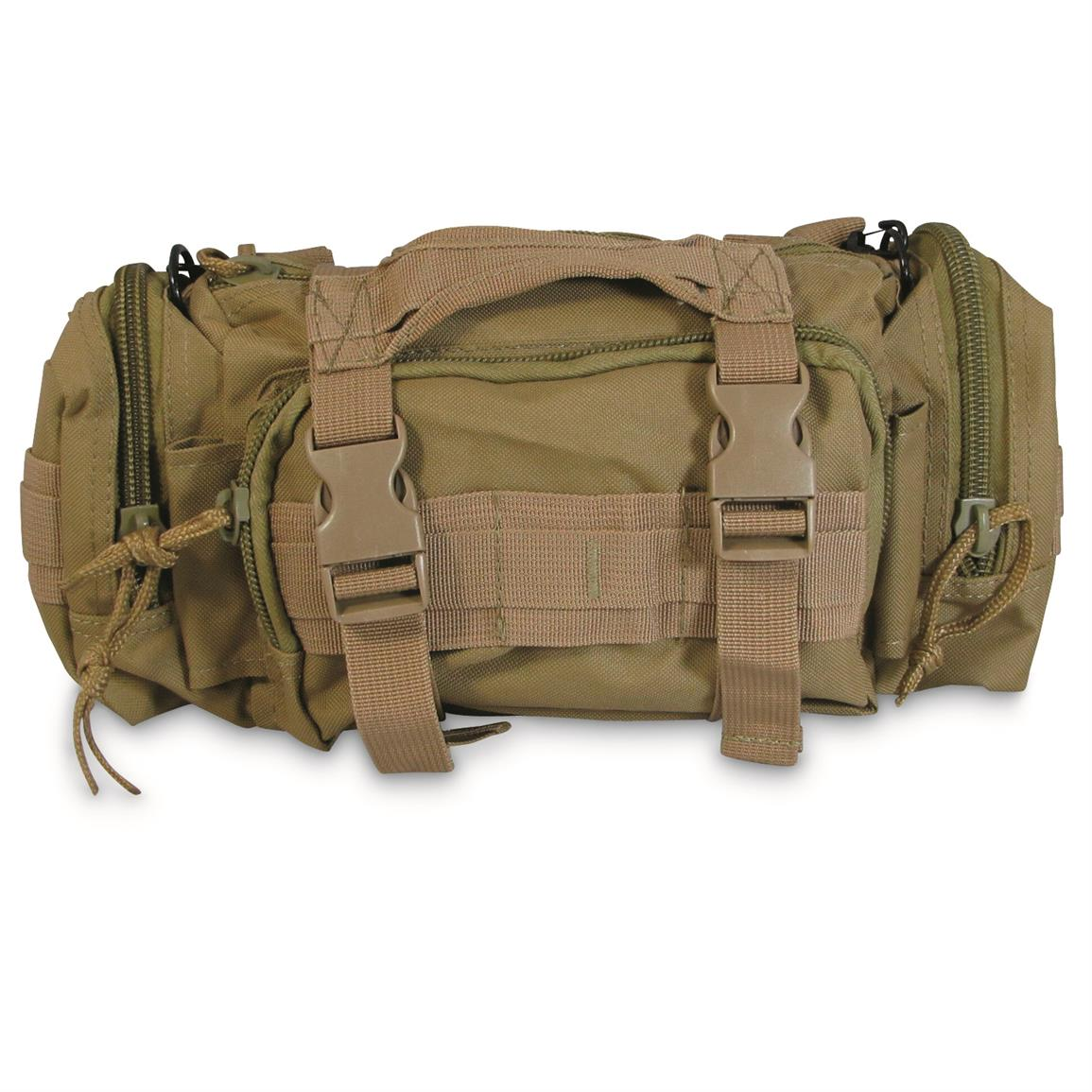 MOLLE-compatible pouch that piggybacks on the rest of your gea