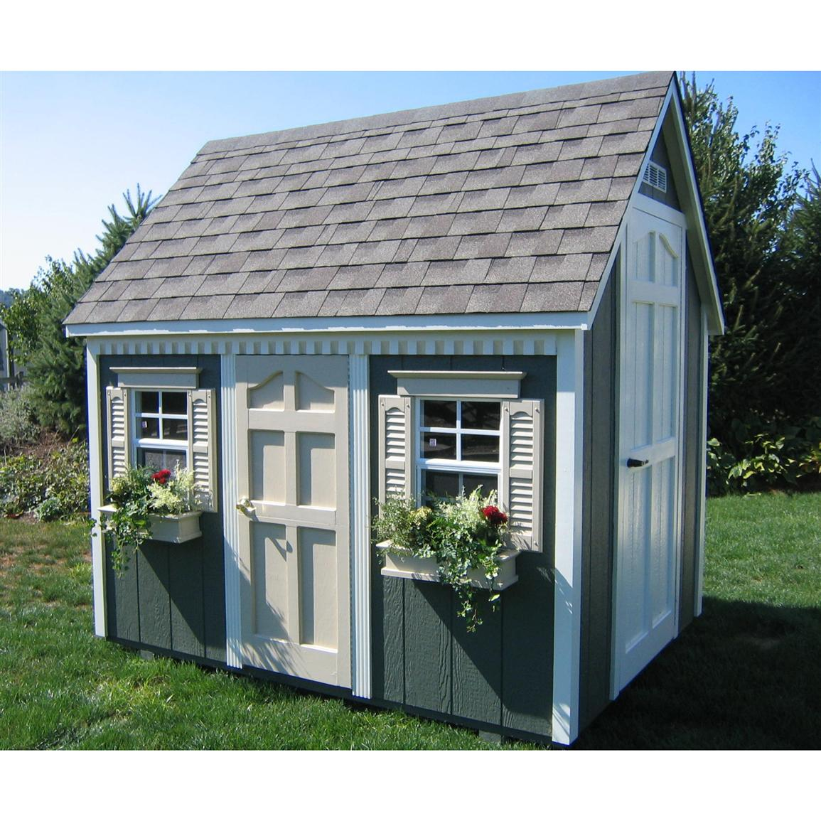 Suncast 174 8 X 6 Backyard Cottage Playhouse With Front