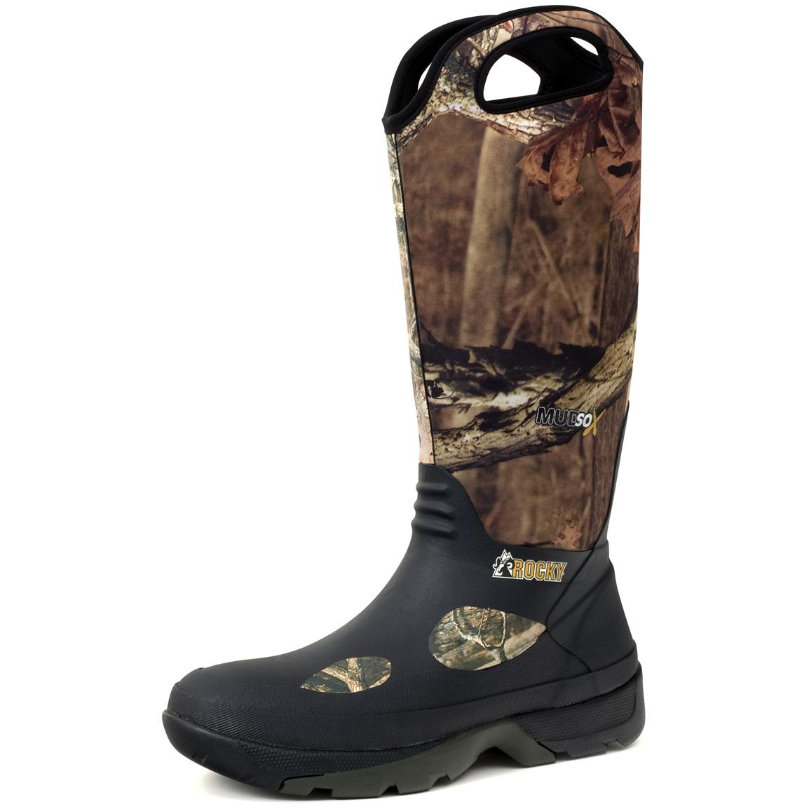 Men's Rocky® 16 inch MudSox Rubber Boots, M.O.B.U. Infinity
