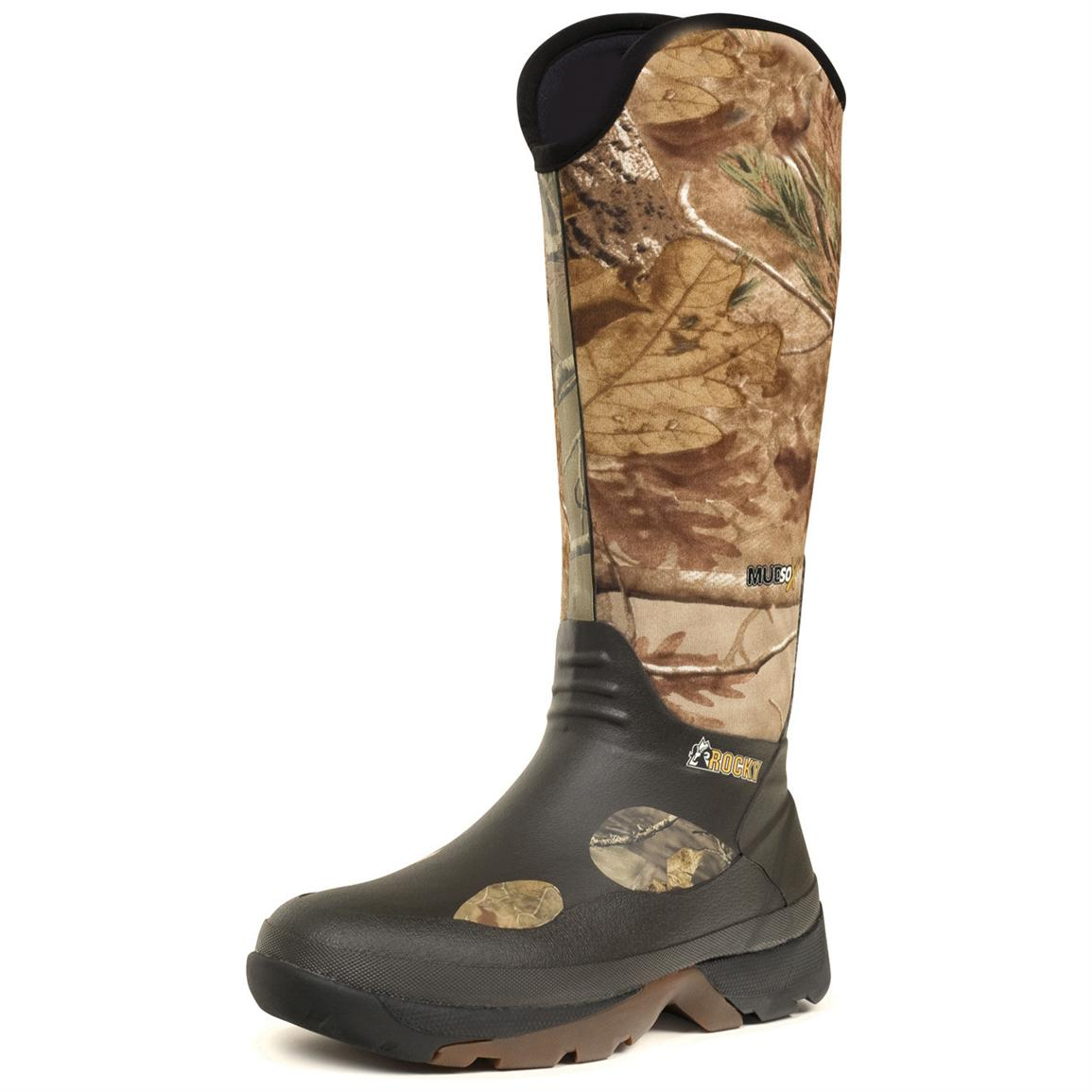 Men's Rocky® 16 inch MudSox Rubber Boots, Realtree AP