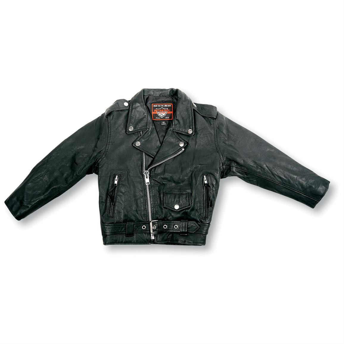 Kids' Interstate Leather Motorcycle Jacket
