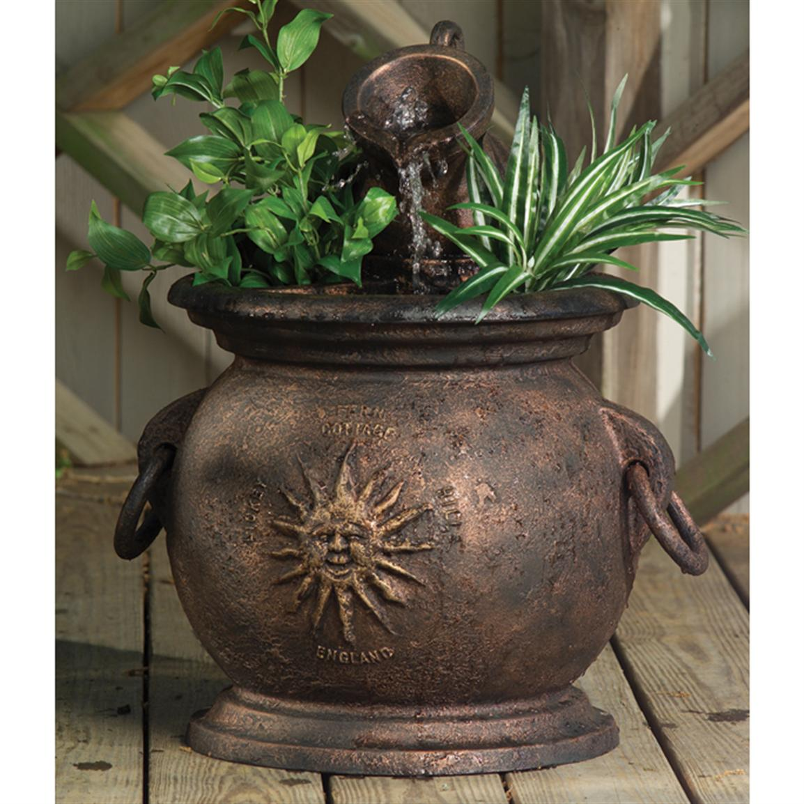 Classical Fountains® Copper Kettle Fountain with Planter