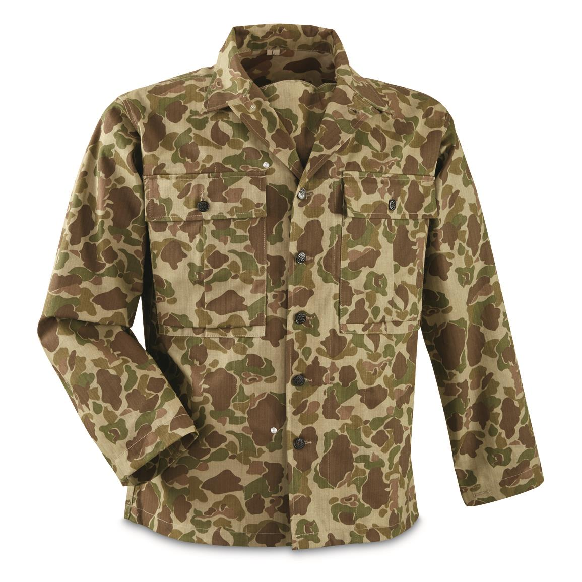 Repro U.S. Military WWII M42 HBT Shirt, Pacific Camo
