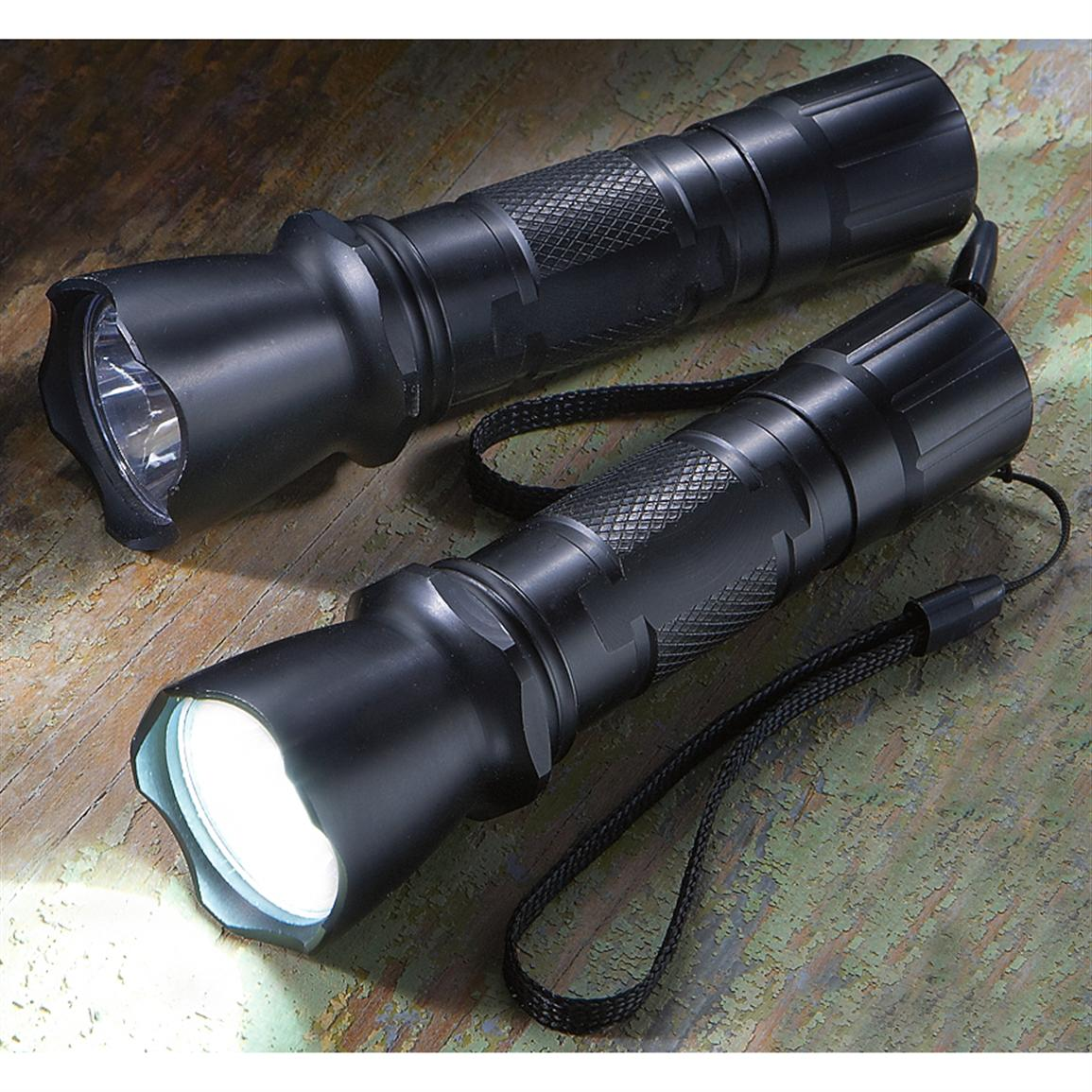 2-Pk. of 160 Lumen Tactical Lights, Black