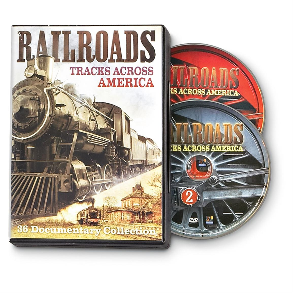 """Railroads: Tracks Across America"" 36-documentary DVD Collection"