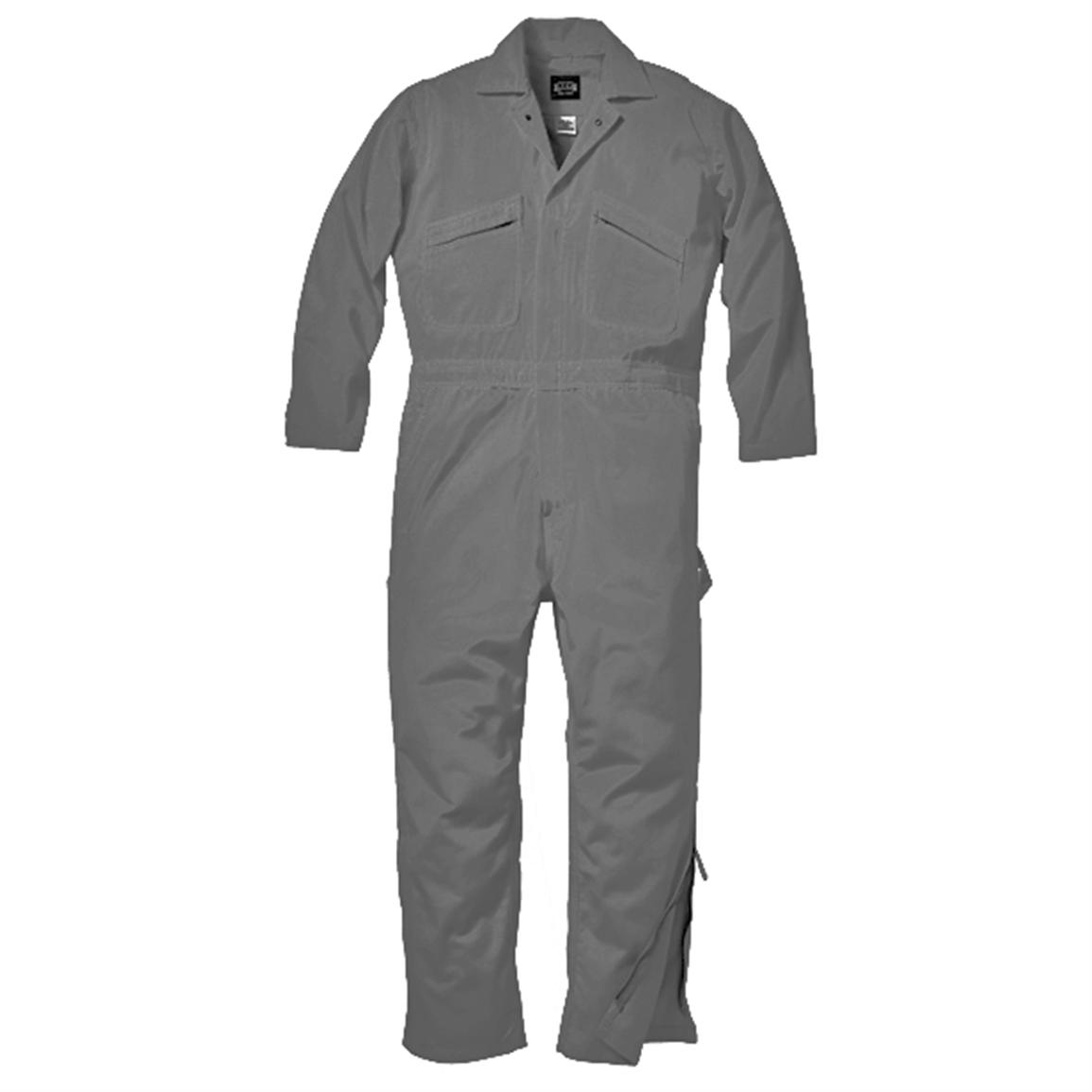 Men's Key® Deluxe Unlined Cotton Twill Coveralls, Grey