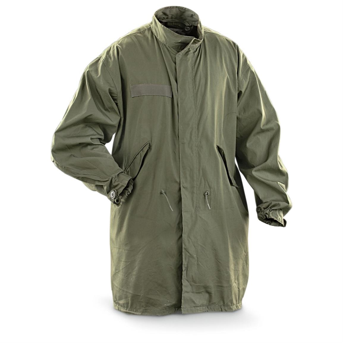 New U.S. Military Surplus Fishtail Parka Shell, Olive Drab ...