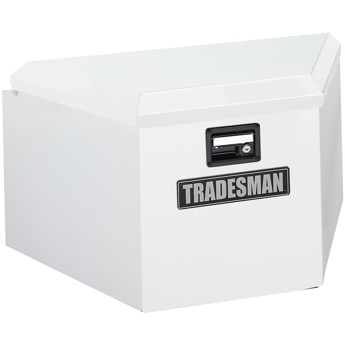 Tradesman® Steel Trailer Tongue Box, White