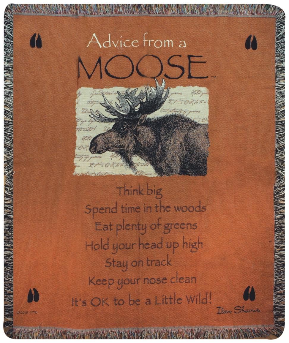 "Manual Weavers ""Advice from a Moose"" Throw"