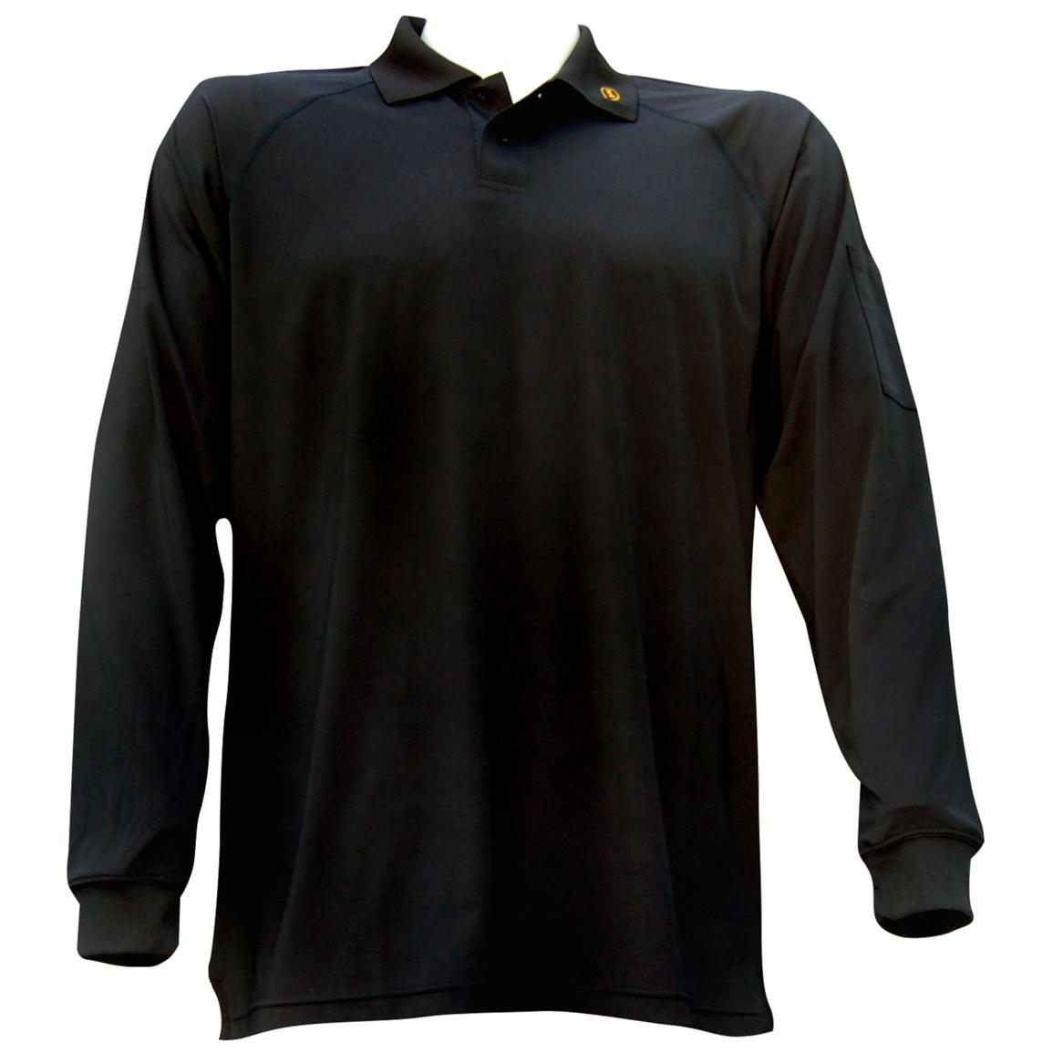 Ironclad® Performance Long-sleeve Polo Work Shirt, Black