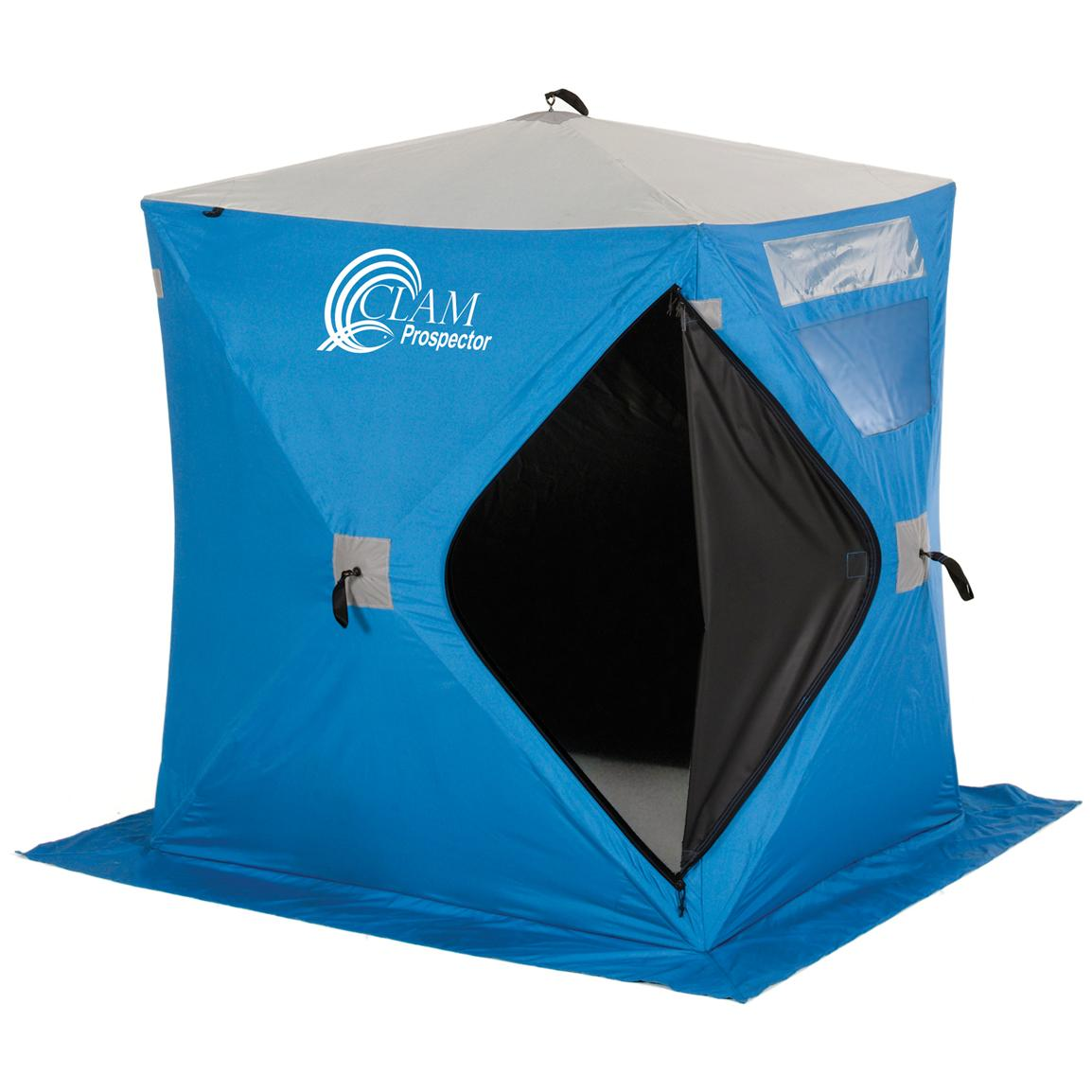 Portable Ice Shelters : Clam™ prospector portable pop up shelter  ice