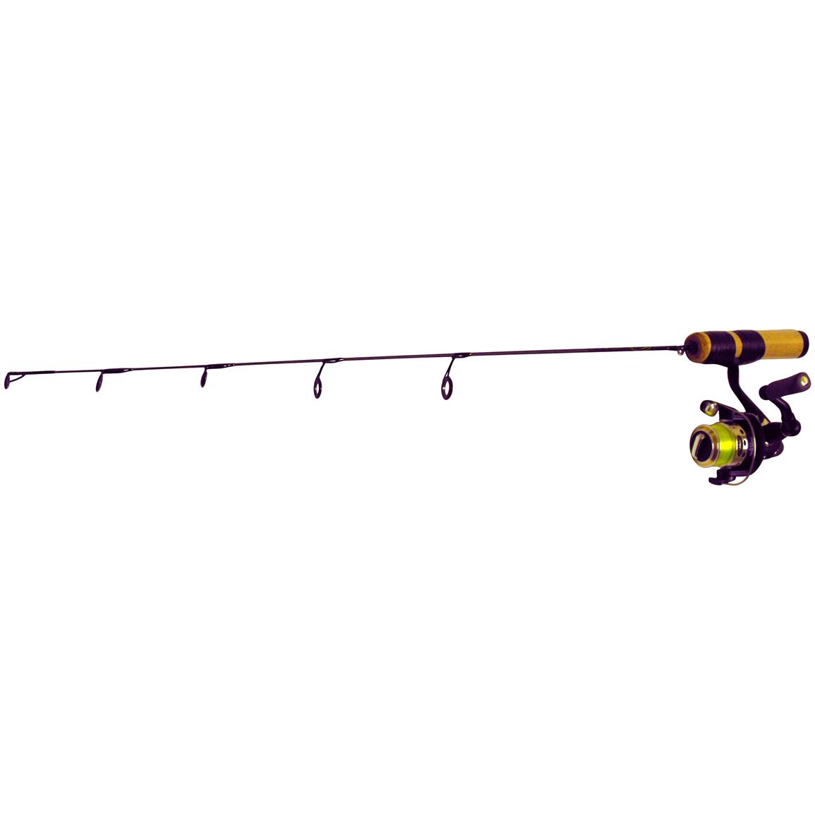 Clam elite series 24 medium action walleye rod and reel for Best walleye ice fishing rod