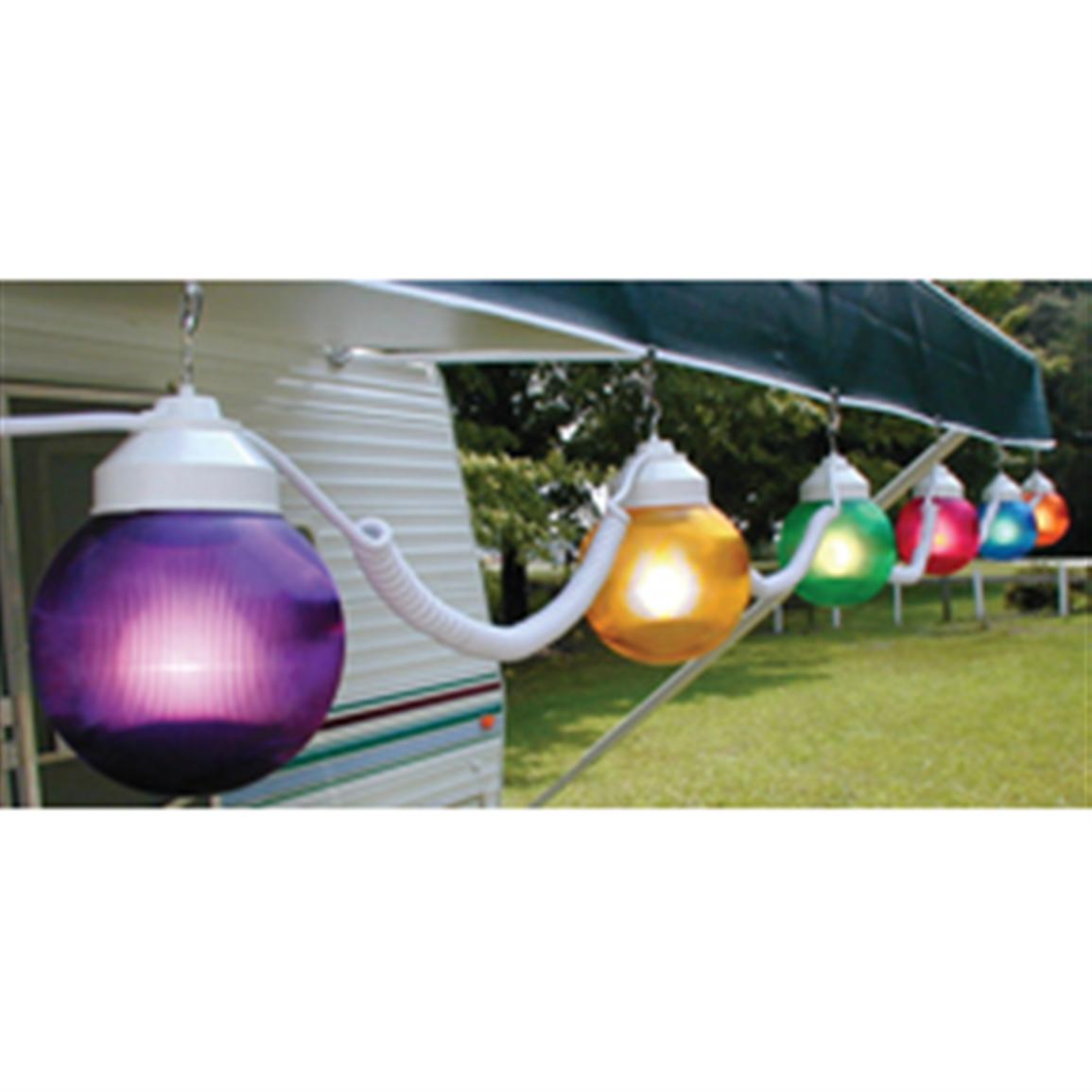Polymer Products 110v Multicolored String Globe Lights 6