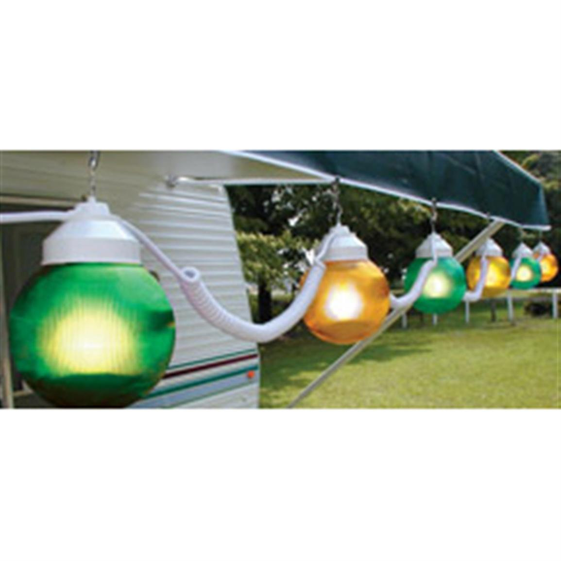 Polymer Products™ 110V Green / Yellow String Globe Lights, 6-Pk.