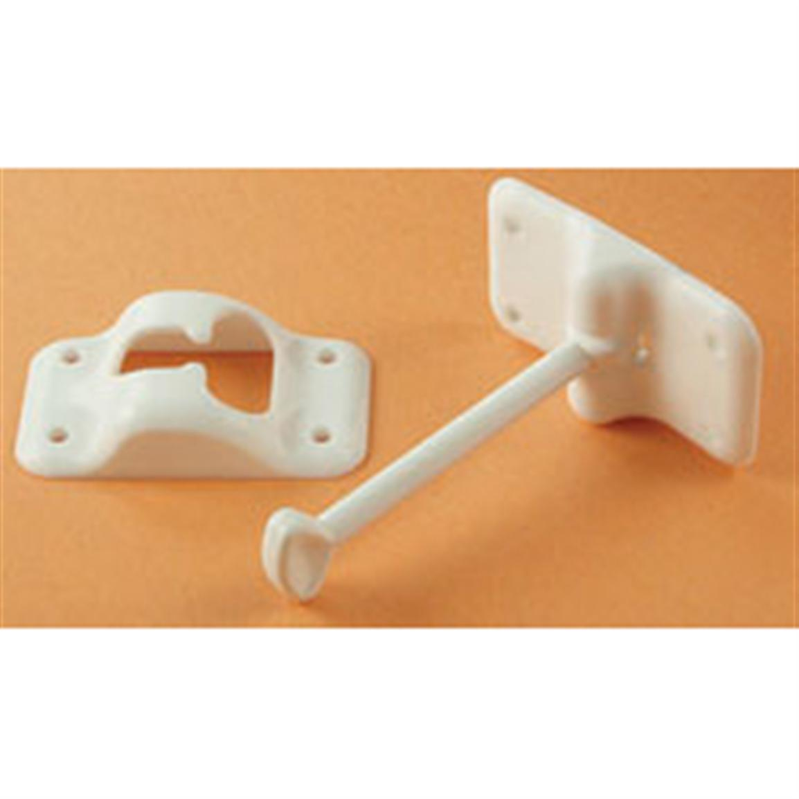 RV Designer® Collection T Style Entry Door Holder, White