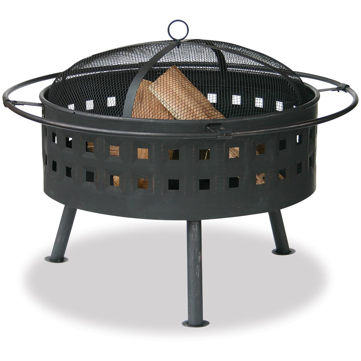 Blue Rhino® Aged Bronze Firebowl with Lattice Design