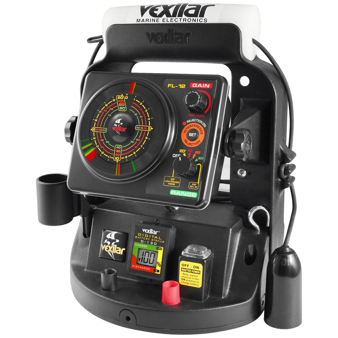 The fl 12 ultra pack with tri beam ice ducer from vexilar for Ice fishing electronics