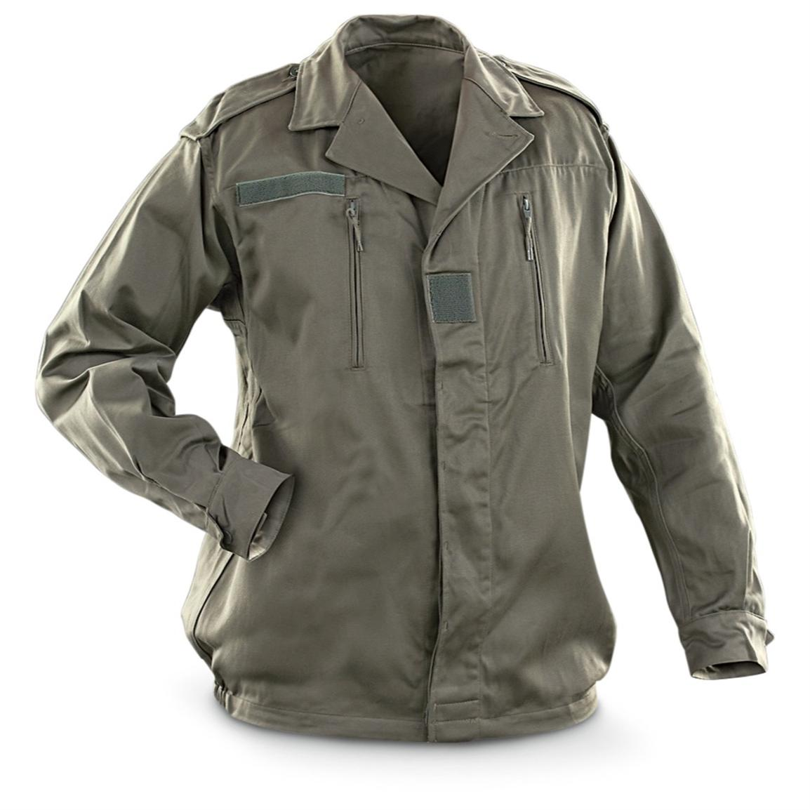 New French Military F2 Jacket, Olive Drab