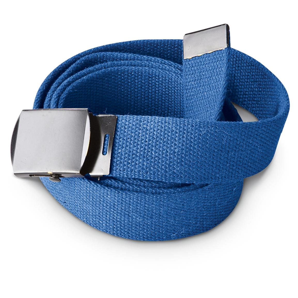 5-Pk. of New German Air Force Trouser Belts, Royal Blue