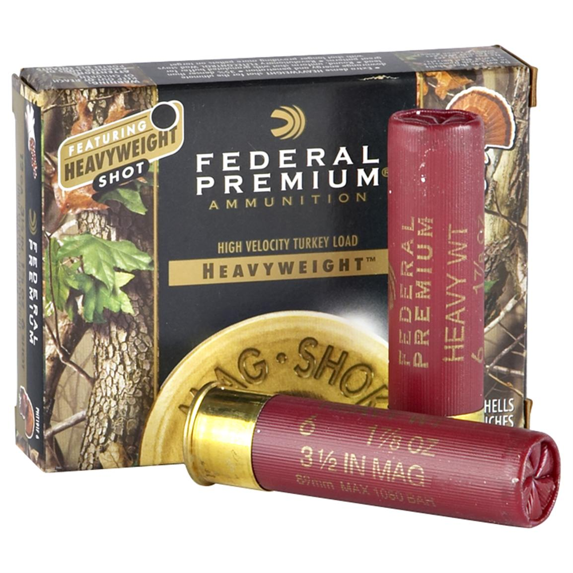 "5 rounds Federal Premium® Mag - Shok"" Heavyweight® Turkey Loads."